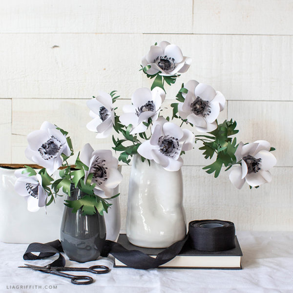 Frosted Paper Flower Anemone