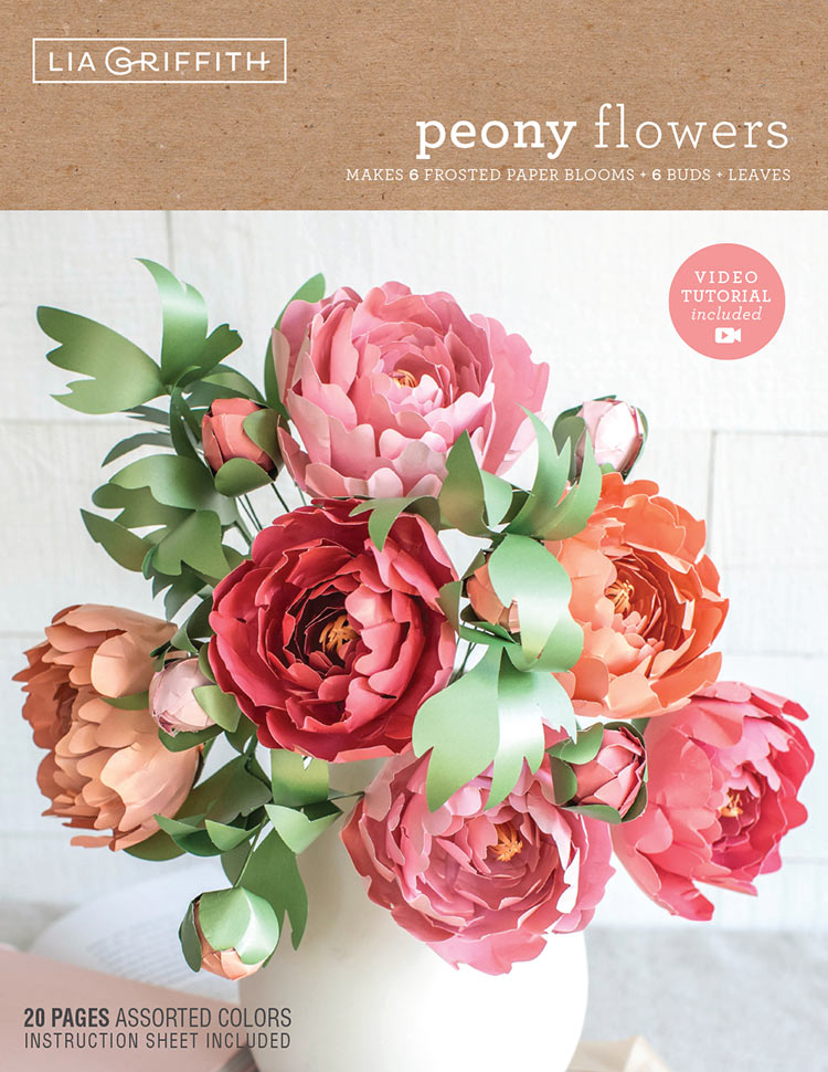 Frosted Paper Peonies Flower Kit By Lia Griffith Shop Lia Griffith