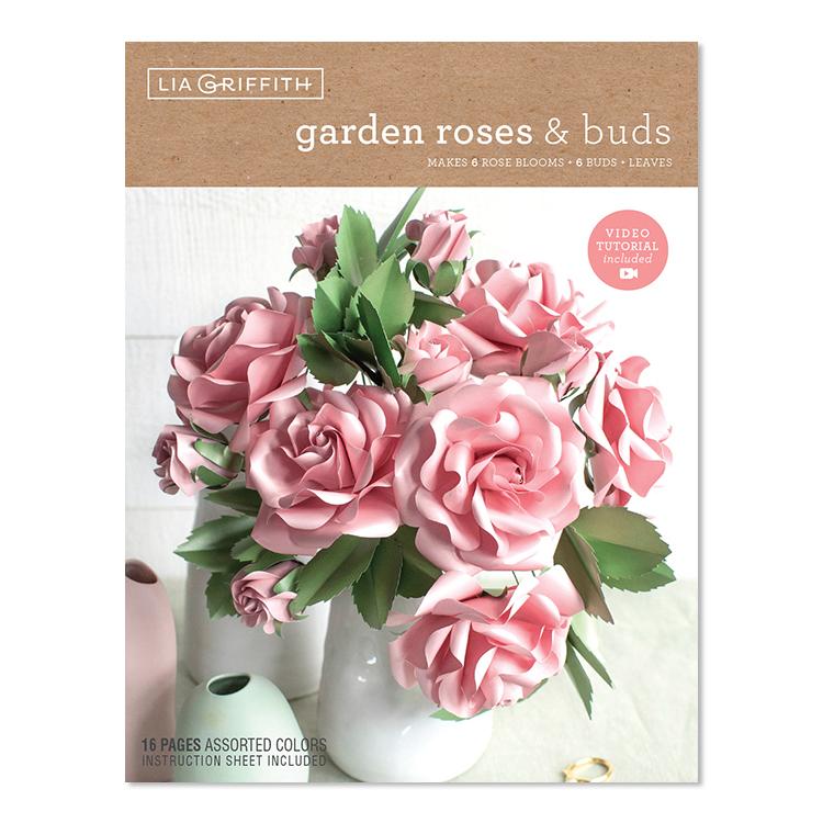Diy Rose Frosted Paper Flower Kit By Lia Griffith Shop Lia Griffith