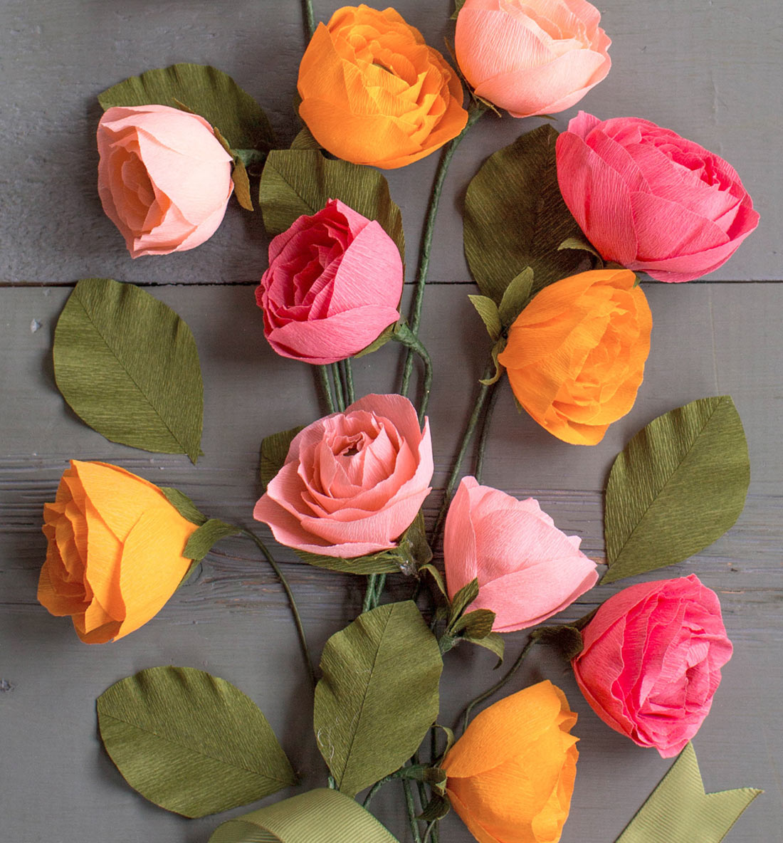 peonies Crepe Paper Flower Kit