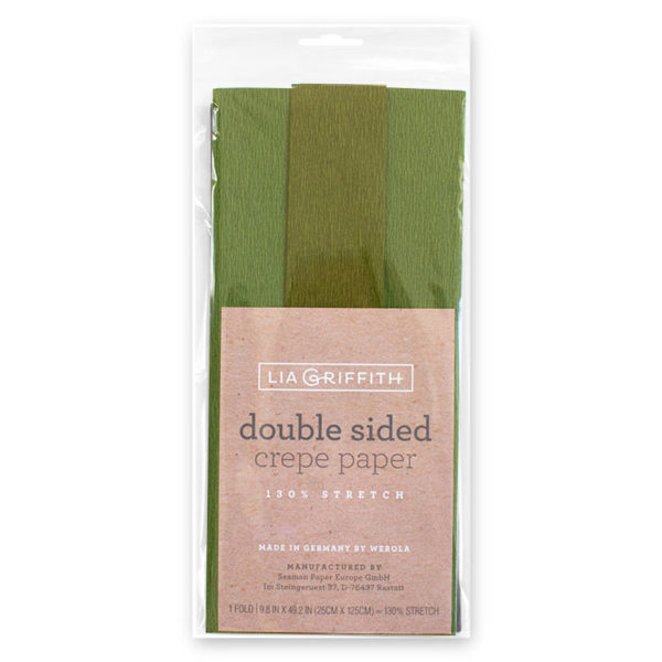 Double sided Green Gloria Crepe Paper
