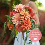 Paper Flower Heirloom Bridal Bouquet