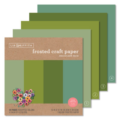 craft paper - succulent pack