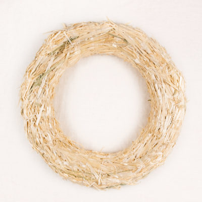 Large Straw Wreath