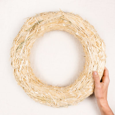 Large Straw Wreath hold